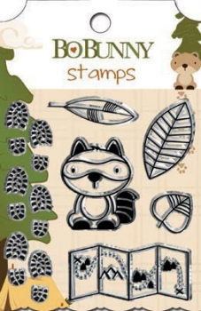 Bo Bunny-Camp-A-Lot - Clear Stamp 3.75x5