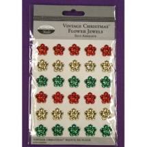 Vintage Christmas Flower Jewels