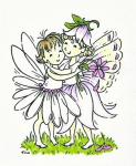 Tina Wenke-A Fairy Hug. Height 3 1/8""