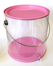 Plastic Can ( large ) Pink