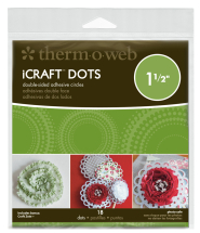 ThermoWeb iCraft 1.5inch Adhesive Dots Double Sided - 18/pack