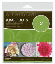 ThermoWeb iCraft 2inch Adhesive Dots Double sided - 16/pack