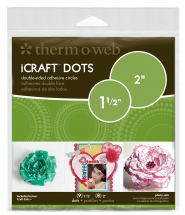 ThermoWeb iCraft Adhesive Dots 1.5 & 2inch Dots - mixed pack