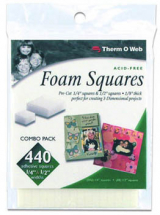 ThermoWeb White Foam Squares Value Pack