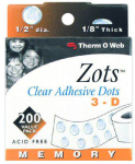 "ThermoWeb - Zots Memory 1/2"" 200 pack"