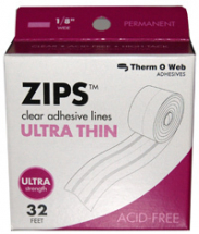 ThermoWeb - Zips Ultra Thin 32' Clear Adhesive Lines