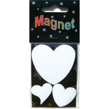 Assorted Magnetic Shapes hearts 5-3cm 3pcs