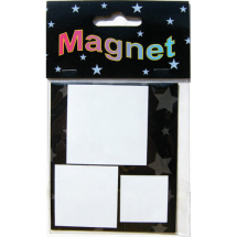 Assorted Magnetic Shapes squares 5-4-3cm
